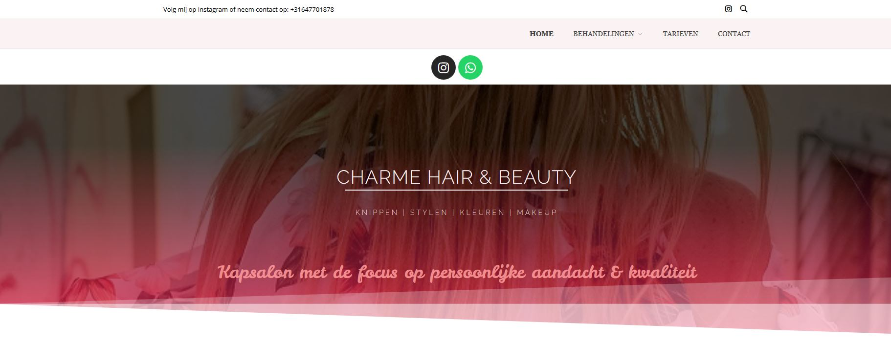 Charme hair and beauty kapper elst